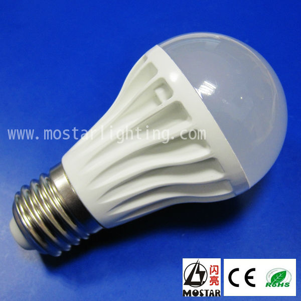 warm white A19 led bulb 7W New CE&Rohs 600LM bare bulbs light