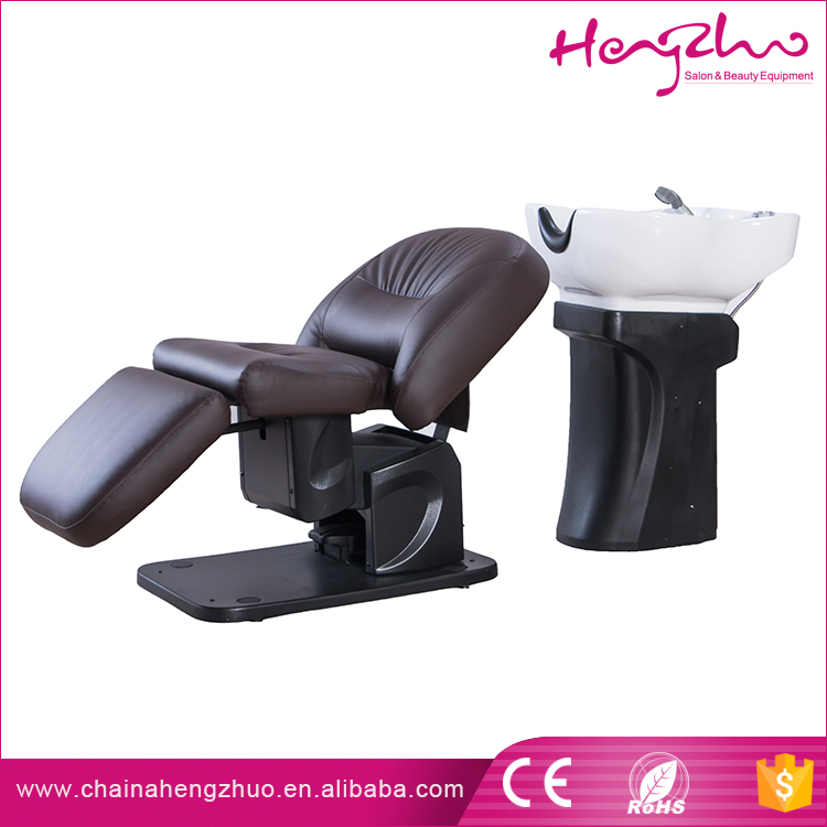 New style Electric Salon reclining styling chair shampoo unit washing hair bed