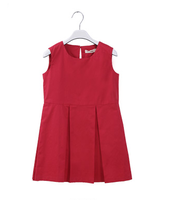 2015 latest summer dresses high quality children dress 100% cotton sleeveless kids dress