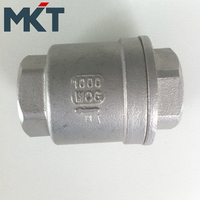 1000WOG Two-PC Female Thread Vertical Spring Check Valve