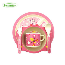 Bamboo Fiber Butterfly Shape Baby Latest Dinner Set With Popular Design