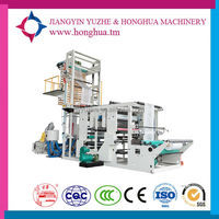 Two Colors Printing and Plastic Extruders Machine for Degradable Bag , Firm Soft Packing of Plastic