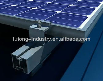 Solar Panel Mounting Aluminium Rail and Clamp