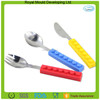 Anti-slip wholesale table ware stainless steel forks knives and spoons for children