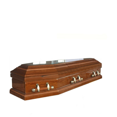 TD--E04 Funeral equipment solid cherry wooden coffin with handles