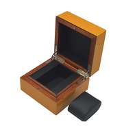 high quality custom logo glossy single wooden watch box for men