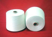 100% polyester spun yarn 20S/2 raw white paper cone yarn for embroidery thread