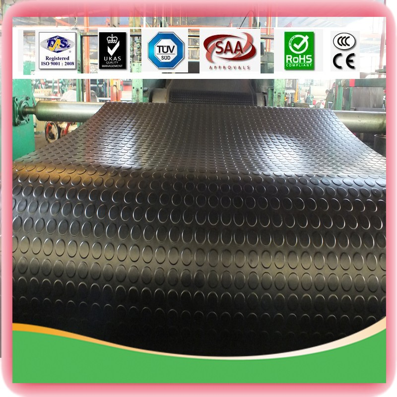 Round Button Rubber Mat Sheet Rubber With Low Price