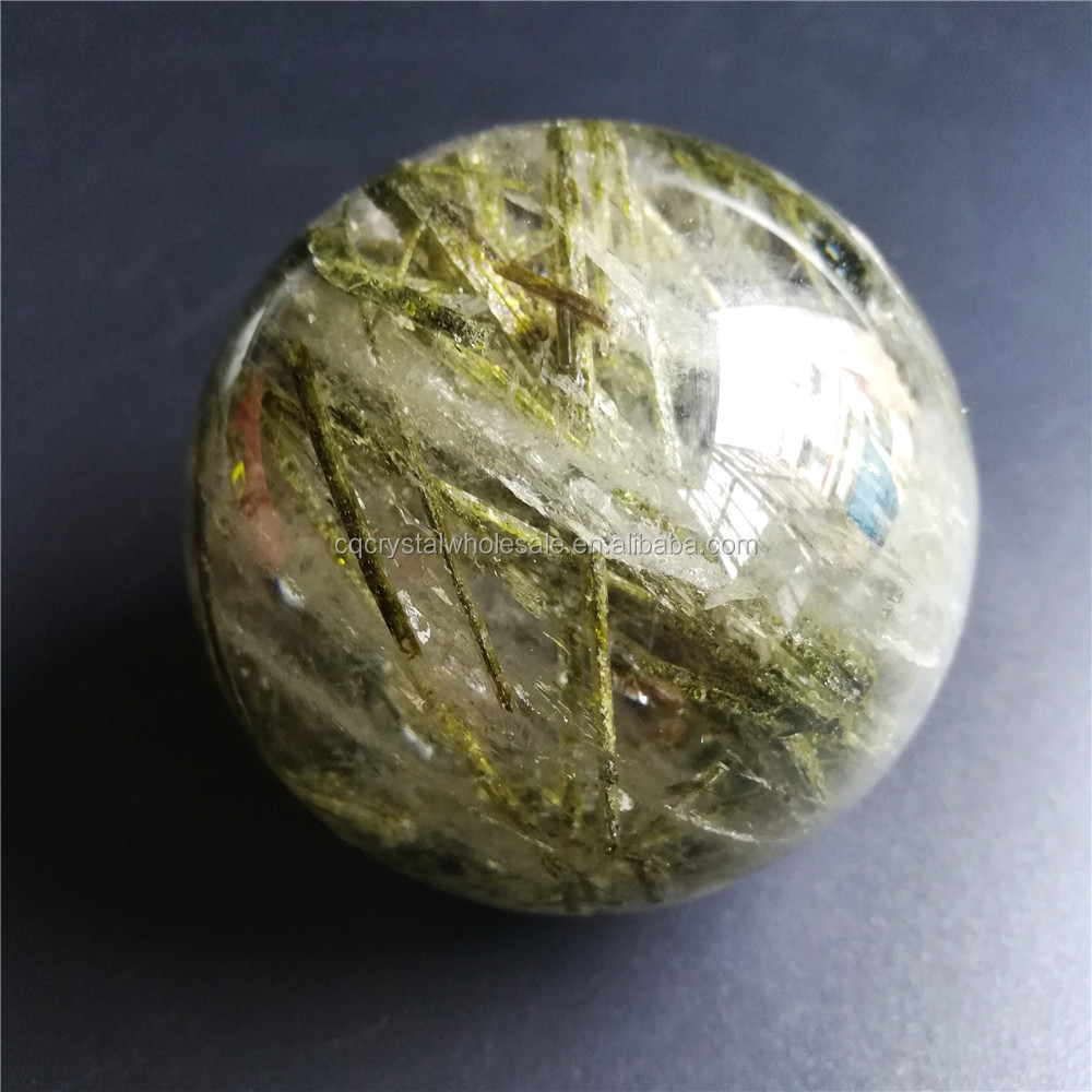 Price of Natural green Tourmaline crystal ball Quartz sphere