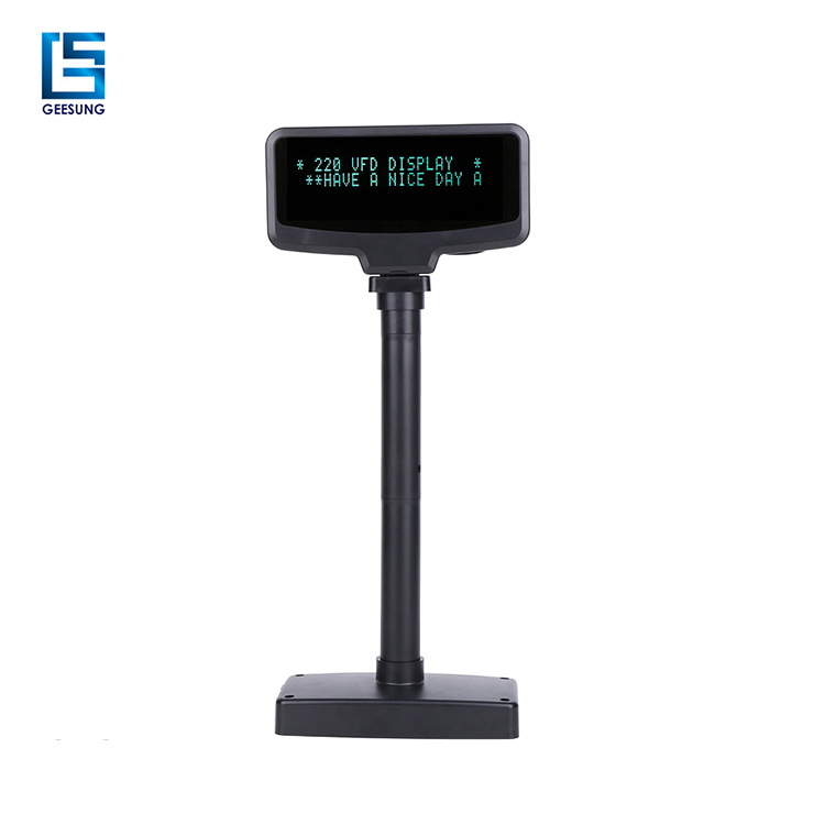 GREEN or BLUE optional Characters POS VFD display with switch on off
