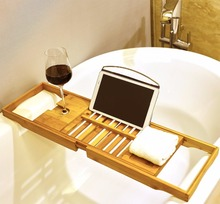 Extendable Bamboo Bath Caddy Tray