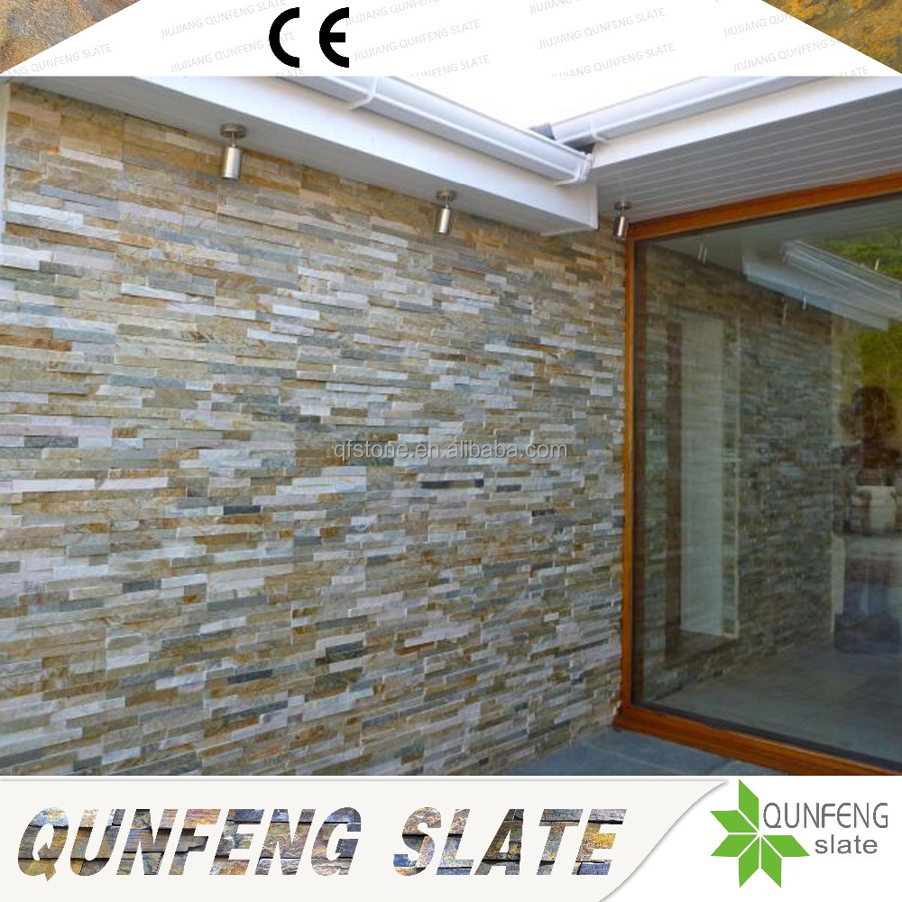 Factory Direct Sale Competitive Price Natural Yellow Stone Wall Slate Panel