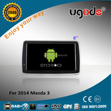 "ugode wholesale 8"" HD screen car gps player for mazda 3 dvd radio 2014"