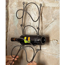 metal wall mounted wine rack for winery cellar supermarket