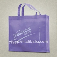 Hot selling! promotional purple non woven cloth carry bag
