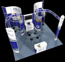 customize exhibition aluminum light weight booth contractor