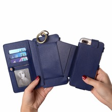 Cell Phone Case Leather Wallet Credit Card Holder cover for iPhone 7