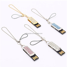 Fashion Jewelry Crystal USB flash pen drive 8GB 16GB 32GB metal diamond u disk beauty key chain gifts for girl lover flash disk