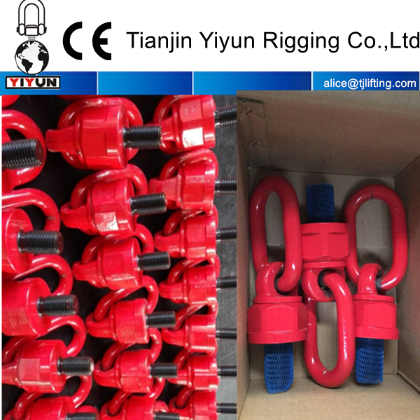 super alloy steel WLL embossed on product swivel rotating hoist ring