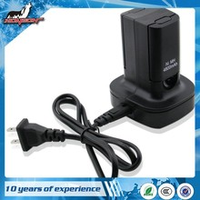 Black Rechargeable 2 Pack For Xbox360 Battery Charging Station