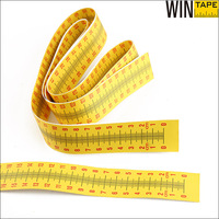 Height measuring self adhensive paper stick with printable logo and label
