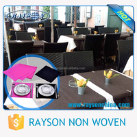 Cheap Hot Sale Balck Color Cheap Nonwoven Fabric Tablecloths for Banquet