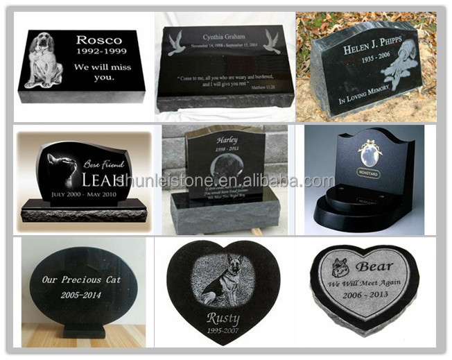 Granite heart shape pet memorial