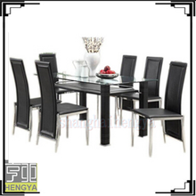tempered glass dining set dining table and chairs for home furniture