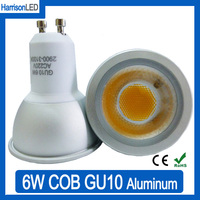Ra>80 super bright Aluminum 6W 500LM warm cool white LED GU10 spot bulb light