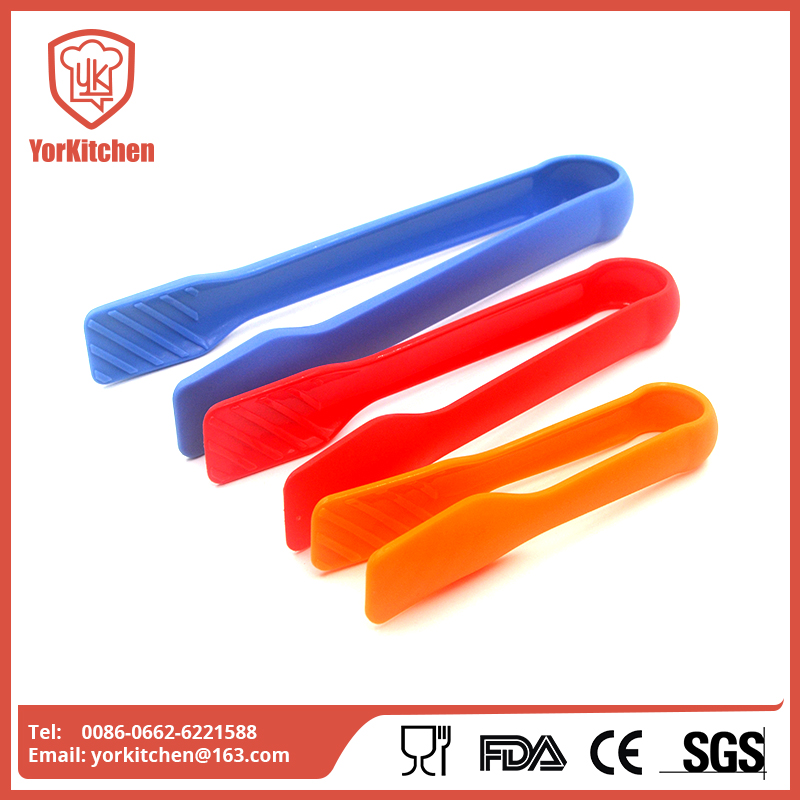 3 in 1 Plastic Colorful Kitchen BBQ Bread Toast Cooking Food Salad Serving Snake Tongs