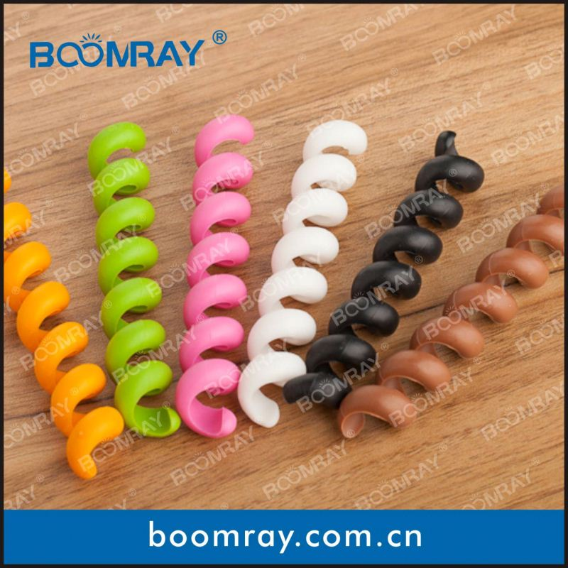 Hot Sale High Quality TPR Cable Winder Clip Rubber Holder Clamp clips video clips hidden camera