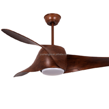 Wood blade 2017 remote control ceiling fans with led lights