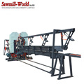 Twin Blade Vertical Band Sawmill Wood Band Saw Mill