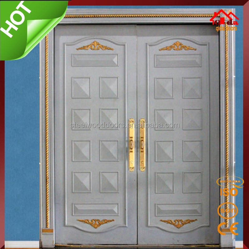 Interior main wooden double door designs buy wooden for Main double door design