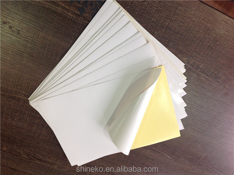 Permanent glue a3 self adhesive paper for sheet printing