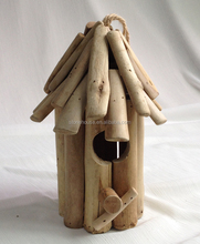9 inch decorative driftwood birdhouse