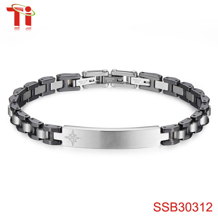 fashion jewelry 2017 best seller black bike chain stainless steel bracelet custom accessories wholesale alibaba men charm bangle