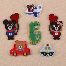 Cartoon Bear Patches Embroidered Iron On Patch For Clothing Sticker Paste For Clothes Bag Pants Sewing