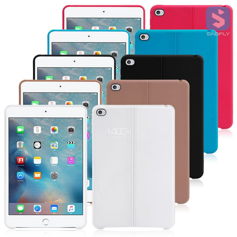 Solid-colored high quality tpu case for ipad mimi 4