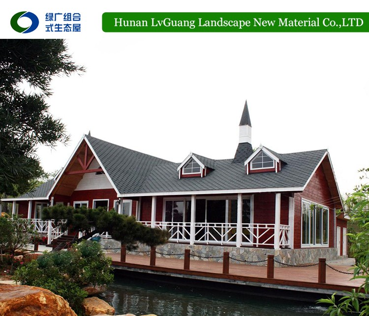 Wooden modern design earthquake prefabricated wood log houses