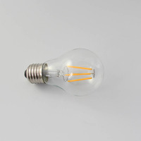 Led lighting OEM factory warm white A60 globe e27 12 volt led filament bulbs 2700k 3000k