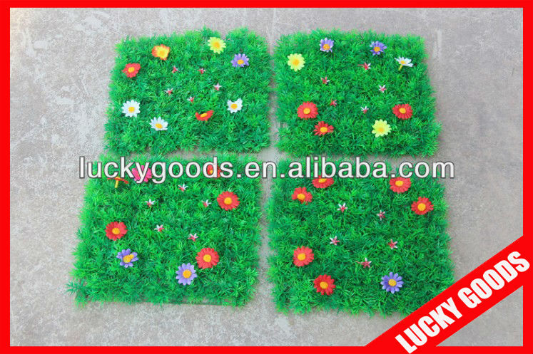 25x25cm festival decorative PE plastic grass flower mat