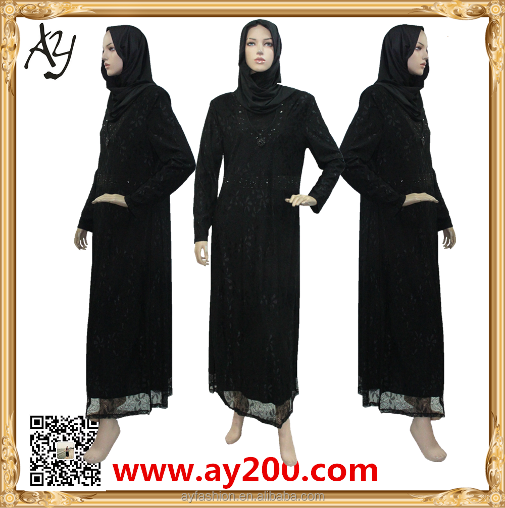 Lace Muslim Women Ladies Abaya Dress Pictures Model Abaya