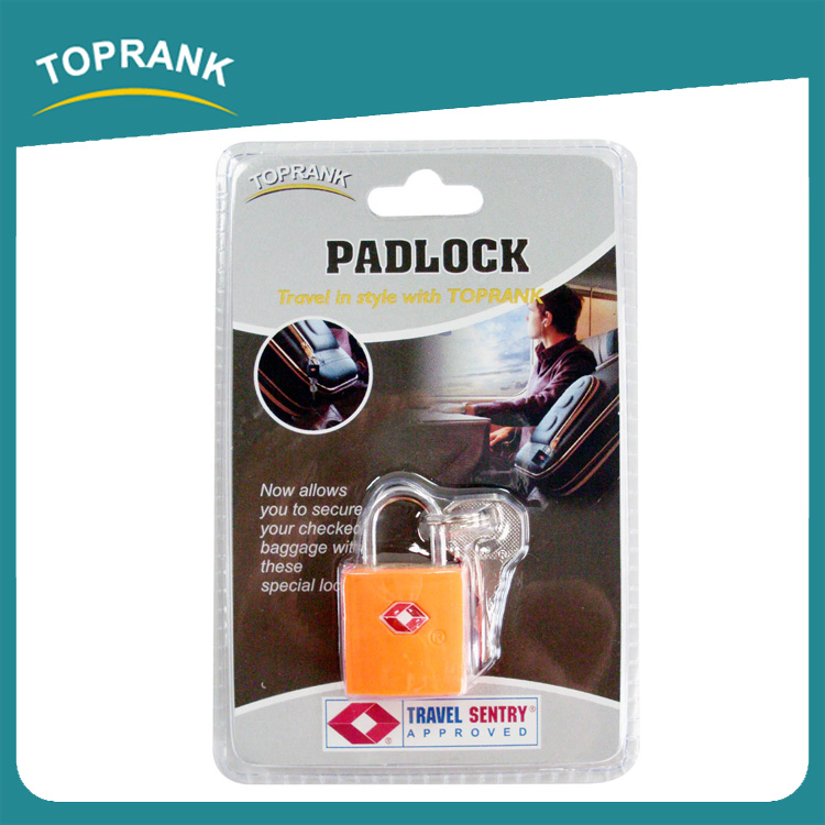 Toprank Wholesale Quality Best Popular Travel Suitcase Luggage Padlock Mini Brass Padlock With Double Key