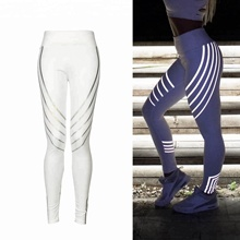 high quality women fitness gym laser Reflector glow leggings yoga pants