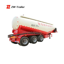 big loading capacity with diesel engine pump cement powder tanker trailer