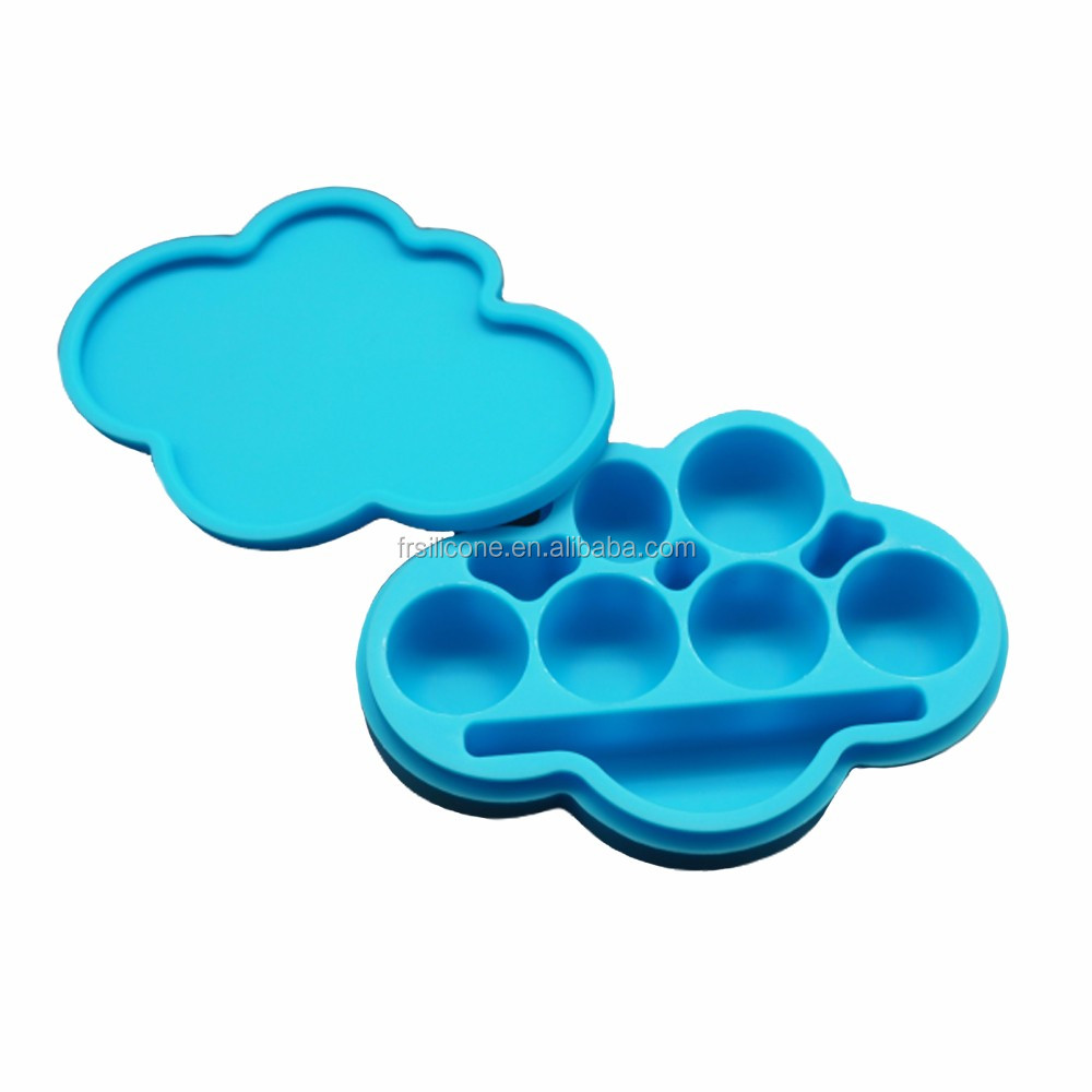 New products cloud shape jar bho extraction big storage cute silicone wax container for oil foreign trade food