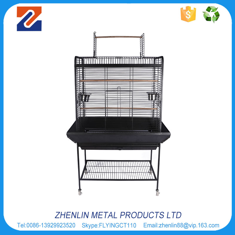 Brand new outdoor stainless steel parrot cage with tray