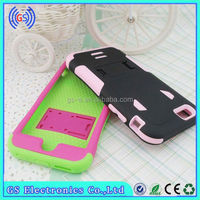 2015 new fashion PC&silicone 2 in 1 Armor Combo case for Samsung Galaxy i8190 S3 mini