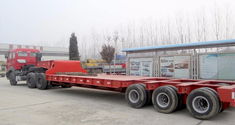 Strong Quality Machine Transporting 100 Ton Low Bed 3 Line 6 Multi Axle Trailer